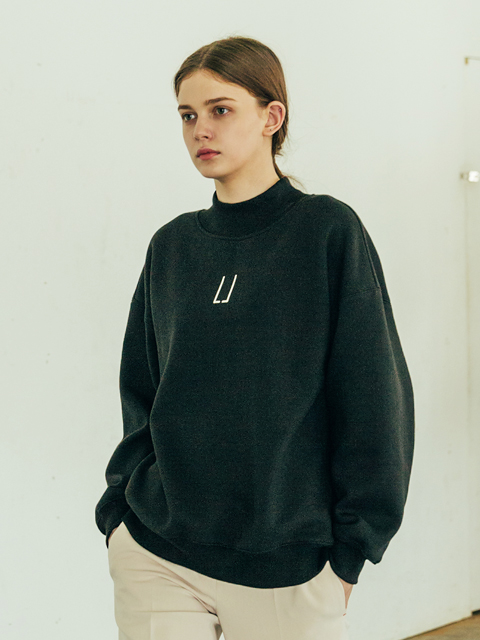 [B6CMB2003M] Half Neck Loose fit Sweatshirt