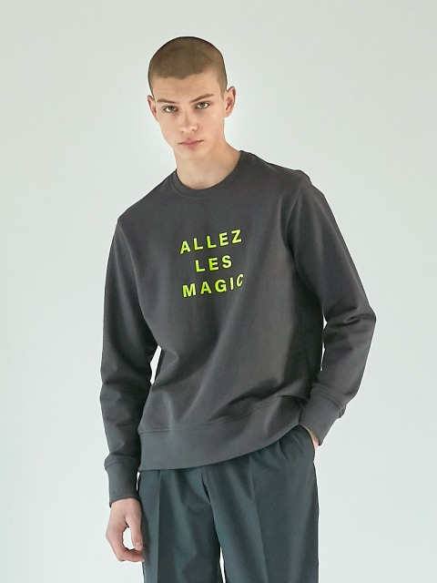 [EBAMB2013M]ALLEZ LES MAGIC 스웨트_GREY